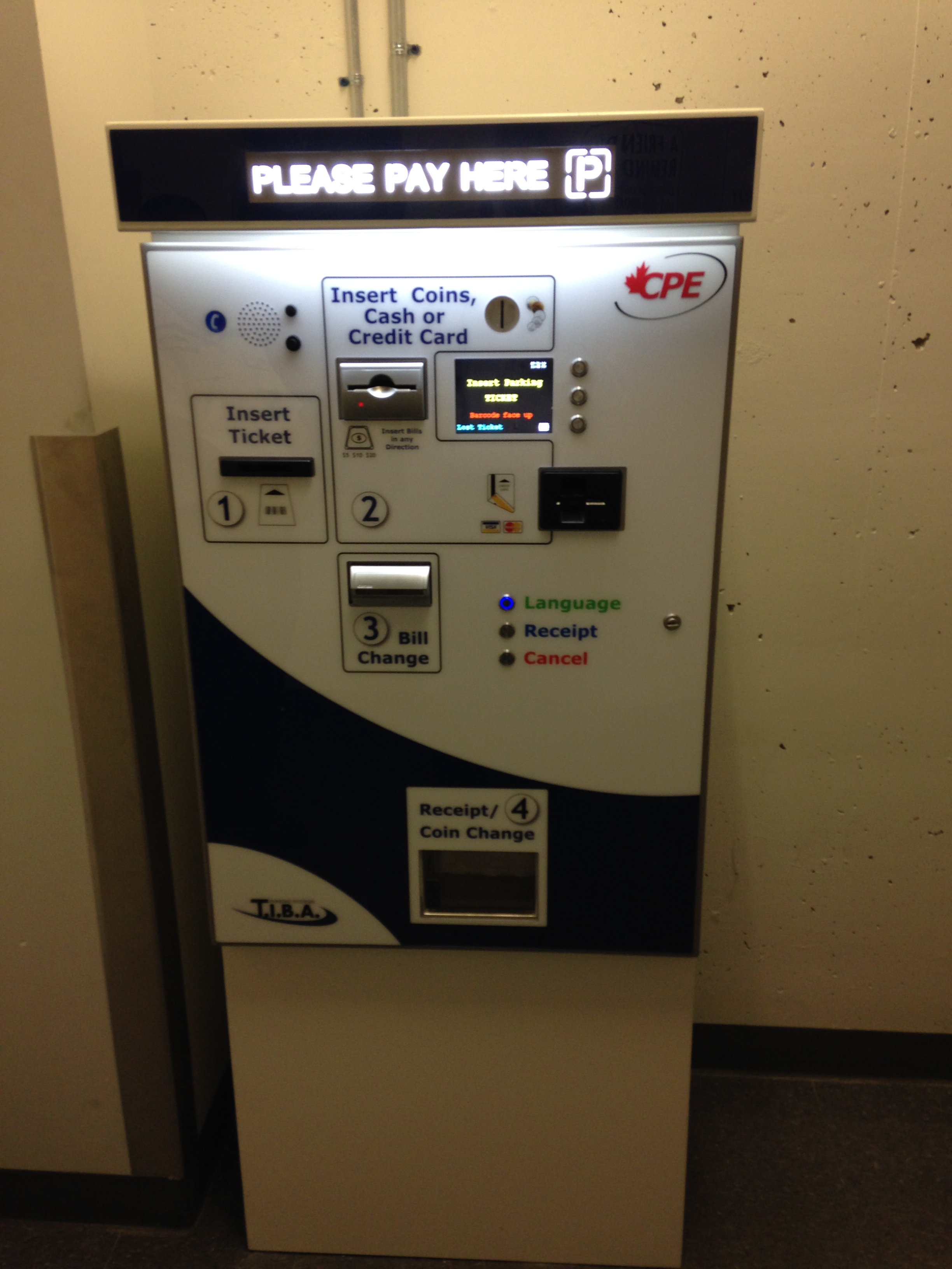 Aps 30 Automated Parking Payment Station Cpe Ape