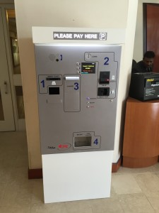 Pay Station at the Novotel Hotel